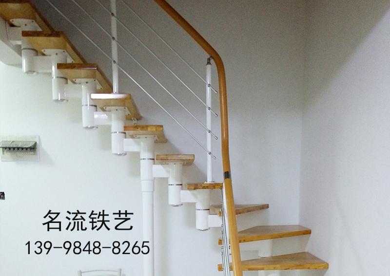 铁艺钢木楼梯安装